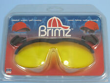 Flip Up Glasses Brimz Clip On Sports Eyewear Amber Ice Clamshell Lenses NEW