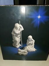 Avon Nativity Holy Family White Porcelain Christmas Collectible - Mint in Box