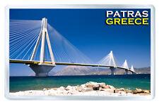 PATRAS GREECE RIO ANTIRIO BRIDGE FRIDGE MAGNET SOUVENIR IMAN NEVERA