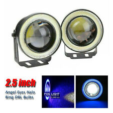"2.5""Angel Eye COB Blue Halo Ring LED Car DRL Projector Lens Fog Driving Light"