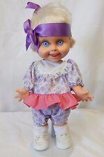 "Vintage Galoob 1990 Baby Face 13"" Doll #8 So Delightful Dee Dee blond hair blue"