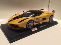 Ferrari FXX K - Yellow Race Car #15 : Die Cast Maisto Special Edition 1:18 scale