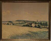 Weiter Blick über Kornfelder K.H. Staugaard Juli 1936 Dänemark 55 x 69 cm