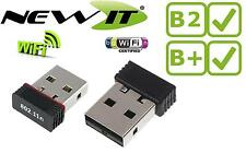 WIRELESS NANO-USB WIFI b / g / n 150Mbps per il Raspberry Pi Modello B + (B PLUS)