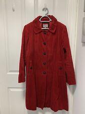 Ladies M&S Per Una Red Cord Coat Size 18