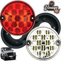 Land Rover Defender Wipac 95mm LED Rear Fog Lamp Reversing Light Upgrade + Bases