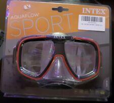 Intex Aquaflow Sport Diving, Snorkeling Mask New Red And Black