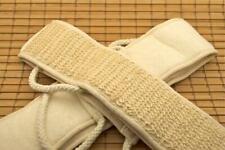 Soft Natural Sisal Fiber Back Strap Exfoliator Scrubber Spa Body Skin Brush