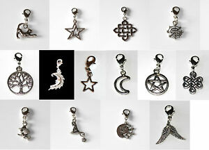 Halloween, Wicca, Celtic, Pagan Clip On Bag / Bracelet Charm's