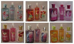 Bath & and Body Works Shower Gel, Mist & Body Lotion 3 PC Set NEW U PICK