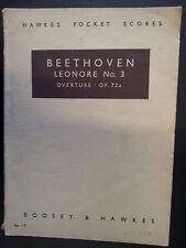 mini pocket scores BEETHOVEN Leonore 3 / overture Op 72