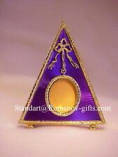 Russian Imperial Empress Alexandra Triangle Purple enamel gold Photograph Frame