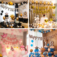 Birthday party decoration balloon set