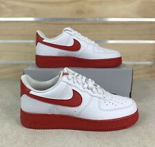Nike Air Force 1 Low White University Red Midsole New CK7663-102 Mens Size 8.5