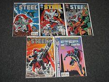 Steel D.C Comics #0 #1 #17 &18 #19