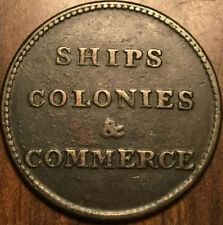PEI CANADA SHIPS COLONIES AND COMMERCE HALFPENNY TOKEN BR 997 LEES 8 6+E SHC-6