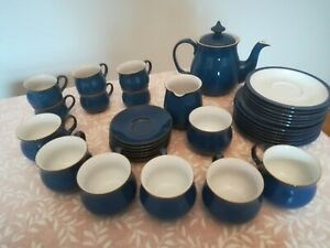 BEAUTIFUL DENBY IMPERIAL BLUE TEA/COFFEE SET - GOOD CONDITION - COLLECT FROM CW5