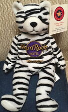 Hard Rock Hotel ORLANDO 2001 ZEBRA Teddy Beara BEAR Plush BEAN BAG w/Tag LE 5000