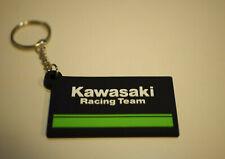 Rubber Kawasaki Racing Team motercycle racing keychain keyring Collectables