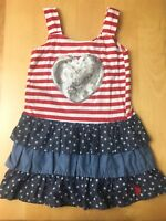 US Polo July 4th Sundress Size 3T Red White Blue Cotton