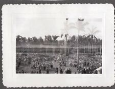 2 VINTAGE PHOTOGRAPHS GAMBLING HORSE DOG RACE TRACK FLORIDA PALM TREES OLD PHOTO