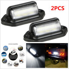 2PCS LED Passenger Trailer Truck Armored Off-road High Bright Licence Pedal Lamp