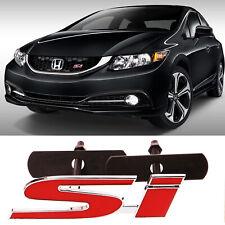 3d Metal Si Sport Red Front Grill Grille Emblem Badge For Honda Civic Decoration Fits 2012 Honda Civic