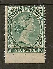 FALKLAND ISLANDS 1878 6d NO WMK SG3