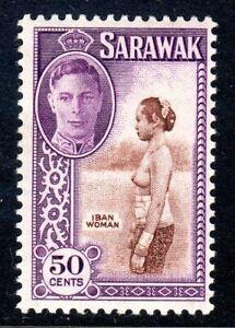 SARAWAK   1950   sg 182  50 cents   MM