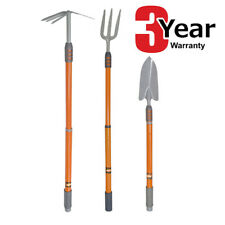 More details for 3pc telescopic handle garden hand tools fork trowel fork/hoe 3 yr warranty