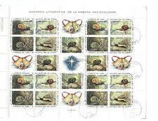 L7417 SPANISH ANTILLES CHRISTMAS SNAILS INSECT BUTTERFLIES 2 FULL SHEETS 1961/62