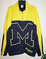 Michigan Wolverines Track Warmup Jacket Mens 2XL PROEDGE Colorblock BIG M
