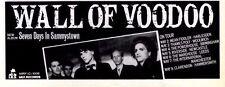 "3/5/86pg6 Album Advert 4x10"" Wall Of Voodoo, Seven Days In Sammystown"