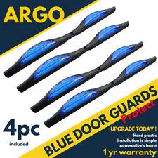 UNIVERSAL BLUE CAR DOOR DOOR EDGE GUARD SHIELD PROTECTORS REFLECTORS X 4 PACK
