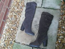 """STEVE MADDEN """"GAMBBLER"""" BROWN SUEDE SLOUCH PULL ON BOOTS UK SIZE 6   EU 39  8.5M"""