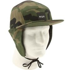 $45 HUF Camo Dog Ear Volley Cap woodland camo hunter hat
