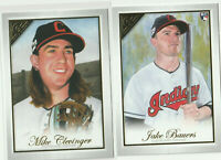 2019 TOPPS GALLERY Jake Bauers RC Mike Clevinger Cleveland Indians 2 CARD LOT