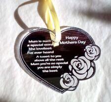 Mothers Day Mum Gift Laser Engraved Acrylic Mirror Keepsake