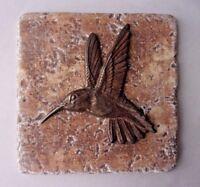 Hummingbird tile mold plaster cement bird  travertine casting mould