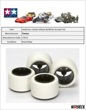 Mini 4wd SMALL DIA. CARBON WHEEL & WHITE ARCHED TIRES(SUPER X-XX) Tamiya 15415