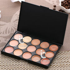 15Color Makeup Matte Face Concealer Cream Contour Smokey Smoky Nude Warm Palette