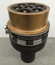 """DELTA STAR HEAVY DUTY POWER CONNECTOR JW 2372 600V 60A 7-POLE for 1"""" O.D. CABLE"""