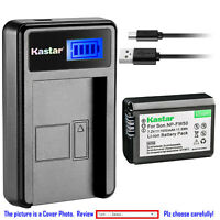 Kastar Battery LCD Charger for Sony NP-FW50 BCTRW & Sony ILCE-5000 Alpha a5000