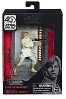 Star Wars Luke Skywalker Black Series 40th Anniversary Titanium Figure IN STOCK