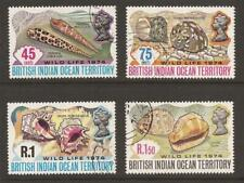 BRITISH INDIAN OCEAN TERR. 1974 SG58/61 Wildlife Shells Set  Fine Used (JB10542)