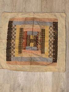 Antique Decorative Pillowcase Rare Fabrics  Folk Art