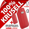 New Krusell Luna L Large GENUINE LEATHER Mobile Pouch Case Cover Sleeve + Clip