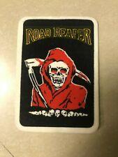 Vintage Velvet Iron On Patch Road Reaper Multi Colored Death Scythe