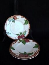 Franciscan Apple 4 Bread/Butter Plates Cream Red Apples/Green Leaves/Brown Branc