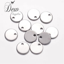 20 x 10.5mm stainless steel round tags stamping blank tag charms 304